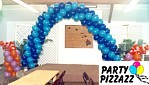 Balloon Arch Accented with Sculptures